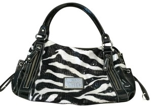 Comsi Comsa Vintage Paris Satchel in Black and White Zebra