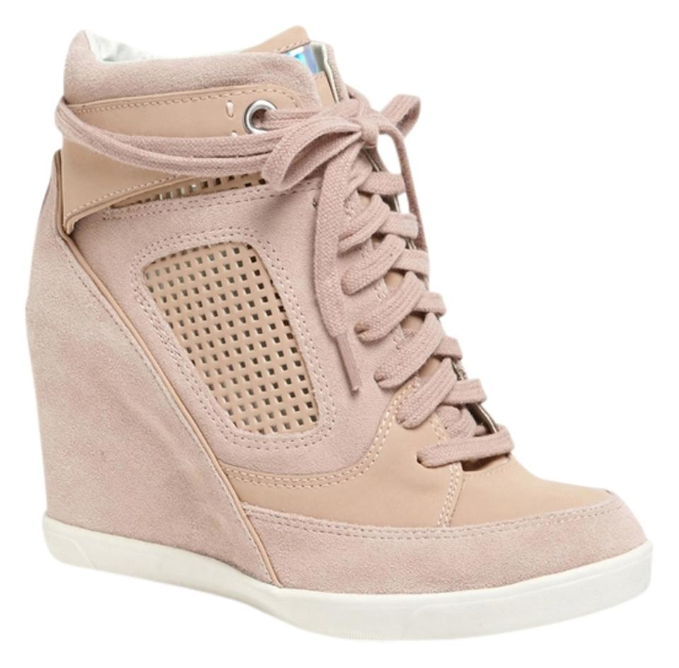 c43249499134 French Connection Beige Marla High Top Wedge Sneaker Boots Booties ...