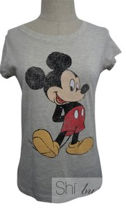 Disney Micky Mouse Minnie Mouse Micky Mouse Minnie Mouse Tee Grey Chic T Shirt Grey/Toupe