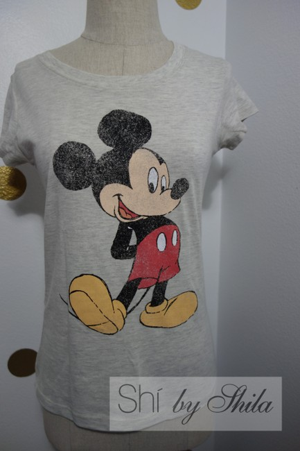 Disney Micky Mouse Minnie Mouse Micky Mouse Minnie Mouse Land Land Chic T Shirt Grey/Toupe