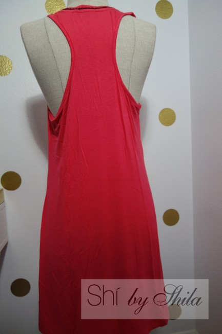 Tart short dress Red/Pink No Coffee No Talkie Intimates Sleepwear Red Nigh Gown on Tradesy