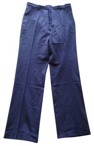 Gap High Waist High Rise Straight Pants Navy Blue