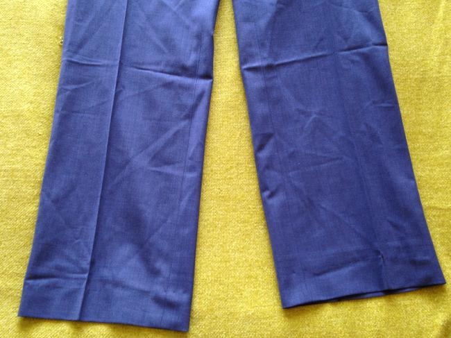 Gap High Waist High Rise Natural Waist 2000s Leg Trouser Straight Pants Navy Blue