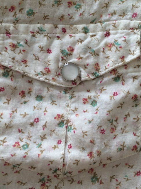 Magazine Button Down Shirt tiny flower print