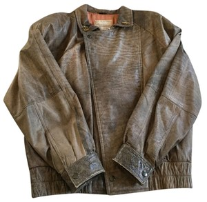 Georgetown Leather Vintage Brown Bomber Jacket Leather Jacket
