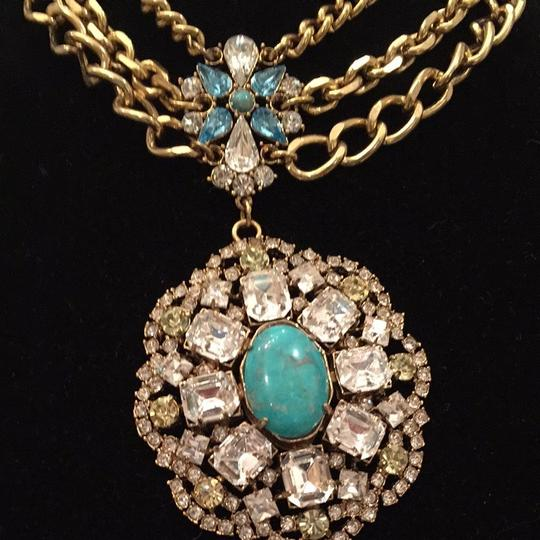 Neiman Marcus Beautiful Necklace With Big Turquoise Nice Is Stone