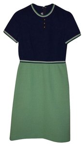 Verona Knits short dress Green & Blue on Tradesy