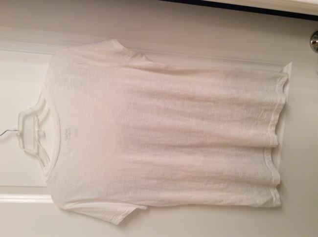 Tommy Hilfiger T W/ / Designer T Cotton T T Shirt White with black and grey