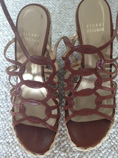 Stuart Weitzman Hickory Brown Wedges