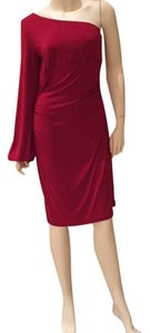 Maggy London short dress Red One Shoulder on Tradesy