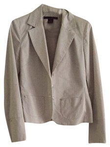 Willi Smith Camel And White Stripes Blazer
