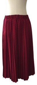Anthropologie Skirt Red And Black