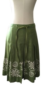 Ann Taylor Skirt Green White