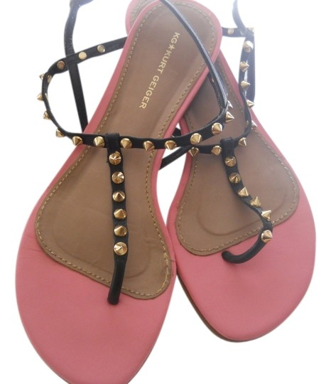 KG Kurt Geiger Studded Pink Sandals