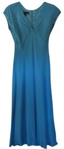 Jones New York Silk Office Wear Day Wear Brunch Office Blue Dress