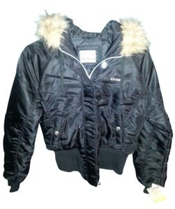 South Pole Collection Nylon Shelll Polyester Lining Filler Polyester Made In Vietnam Black W/ fur hoddie Jacket