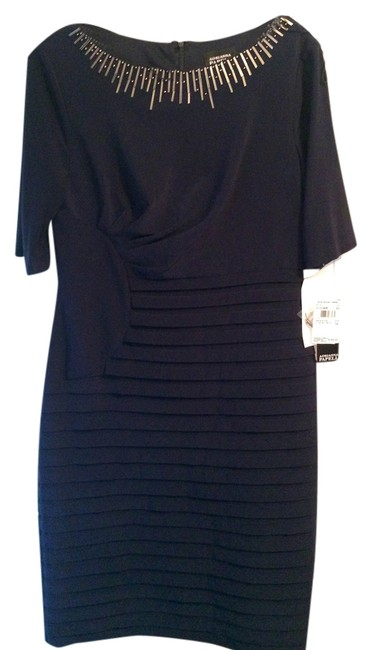 Adrianna Papell Mother Of The Bride Black Summer Party Dress