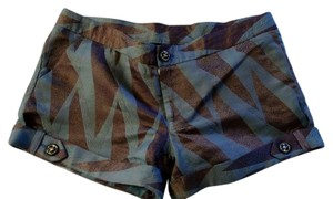 Just Johnson Mini/Short Shorts brown and bluish gray