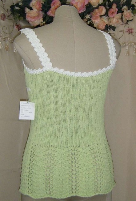 Evelyn Grace Top GREEN & WHITE
