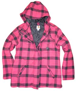 Carharrt Wool Parka Plaid Winter Hooded Coat
