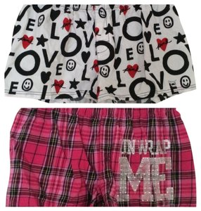 PINK Shorts Pink, White, Red, Black