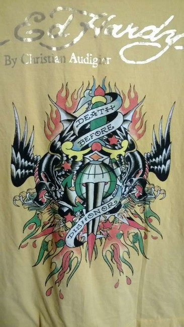 Ed Hardy T Shirt yellow