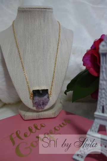 """Other """"Taj"""" natural amethyst necklace"""