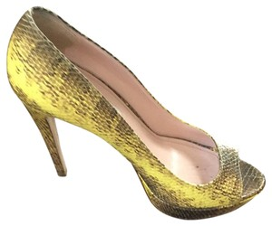 Miu Miu Yellow & Brown/grey Pumps