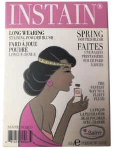 The Balm NWT The Balm - INSTAIN Long Wearing Powder Staining Blush in Lace (Bright Pink)