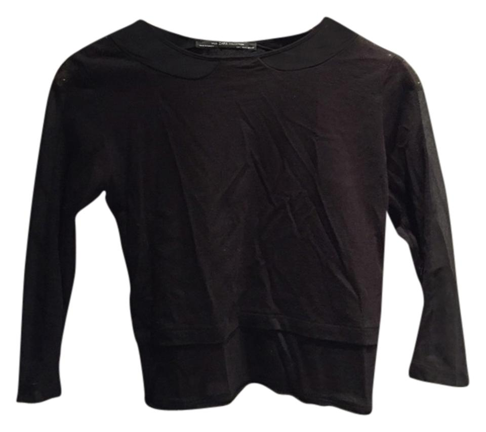 Blouse Panels With Zara Sheer Black wqqTCIRF