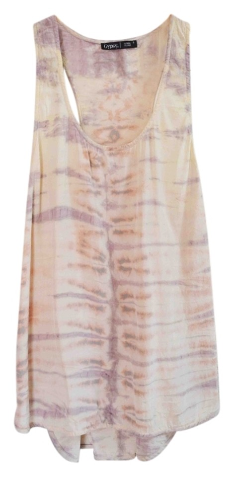 Gypsy05 Blush Tie Dye Lakota Silk Racerback Tank Top/Cami Size 4 (S) 64%  off retail