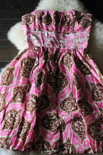 Anthropologie short dress Multicolor Vintage Inspired Tribal Tiki Print Tracy Reese Plenty Tracy Reese Strapless Ikat on Tradesy Image 1