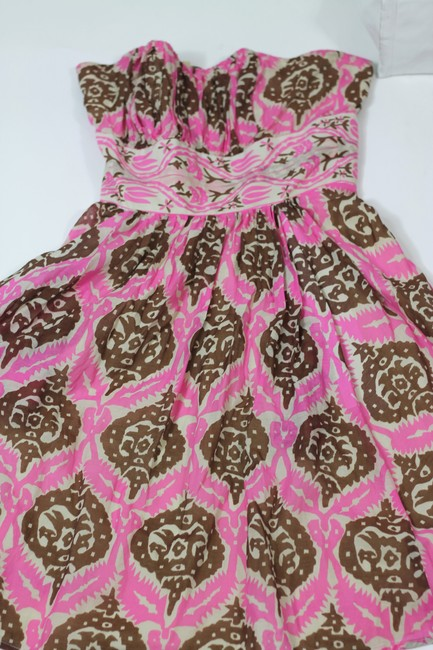 Anthropologie short dress Multicolor Vintage Inspired Tribal Tiki Print Tracy Reese Plenty Tracy Reese Strapless Ikat on Tradesy Image 3