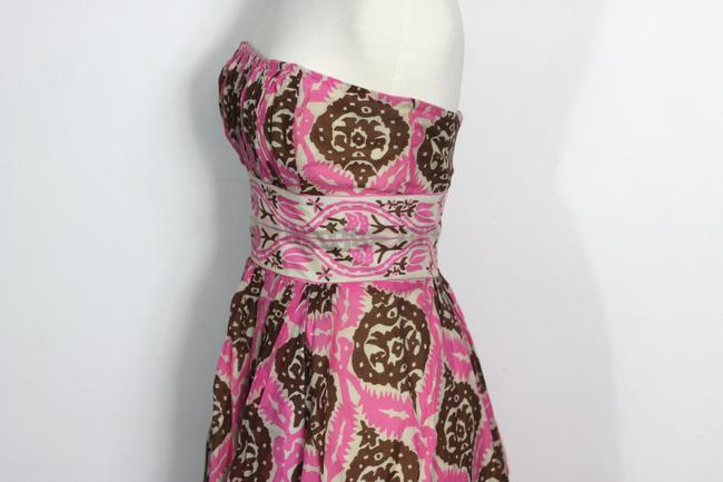 Anthropologie short dress Multicolor Vintage Inspired Tribal Tiki Print Tracy Reese Plenty Tracy Reese Strapless Ikat on Tradesy Image 4