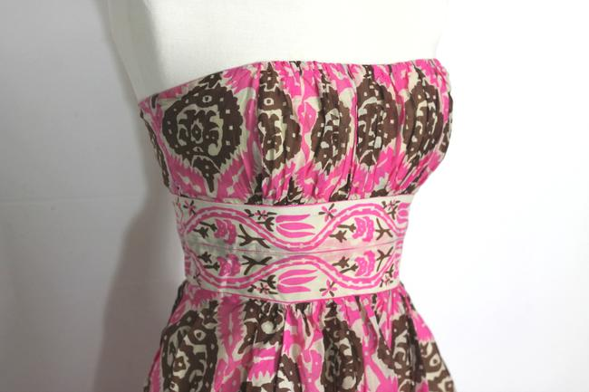 Anthropologie short dress Multicolor Vintage Inspired Tribal Tiki Print Tracy Reese Plenty Tracy Reese Strapless Ikat on Tradesy Image 5