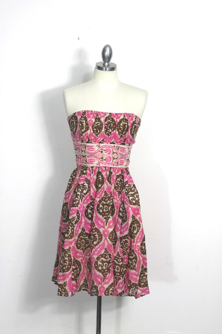Anthropologie short dress Multicolor Vintage Inspired Tribal Tiki Print Tracy Reese Plenty Tracy Reese Strapless Ikat on Tradesy