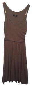 Express short dress Taupe Gold on Tradesy