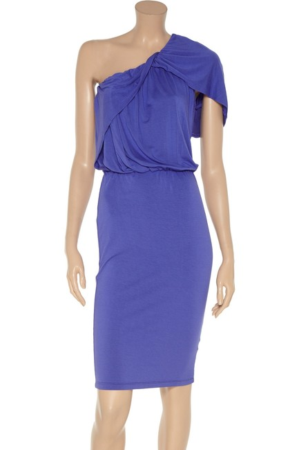 Robert Rodriguez One Shoulder Draped Dress