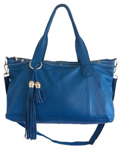 Cuore & Pelle Satchel in Blue Aegean