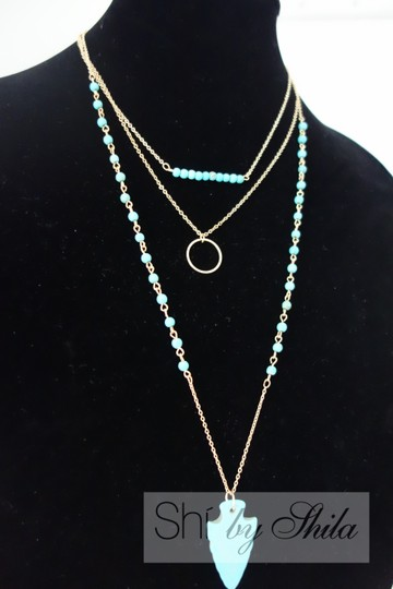"""Other """"Azurine"""" turquoise beads and statement necklace"""