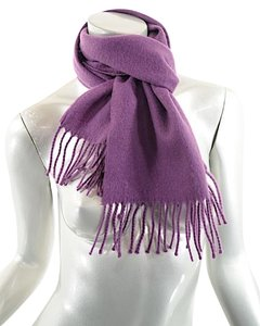 Other Lavender Cashmere Muffler/Scarf w/Fringe - PRETTY + COZY - 54