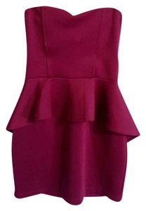 paulnKC short dress maroon on Tradesy