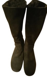 Aquatalia by Marvin K. Brown suede with faux fur lining Boots