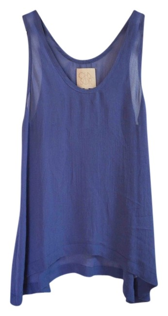 Chaser Blue Gauzy Sheer Tank Top/Cami Size 2 (XS) Chaser Blue Gauzy Sheer Tank Top/Cami Size 2 (XS) Image 1