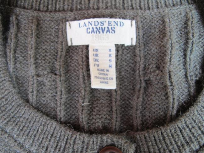 Lands' End Preppy Cardigan Wool Sweater