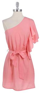 Other short dress Coral One Summer Ruffle Fun on Tradesy