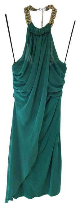 Item - Green Chain Choker Mid-length Night Out Dress Size 8 (M)
