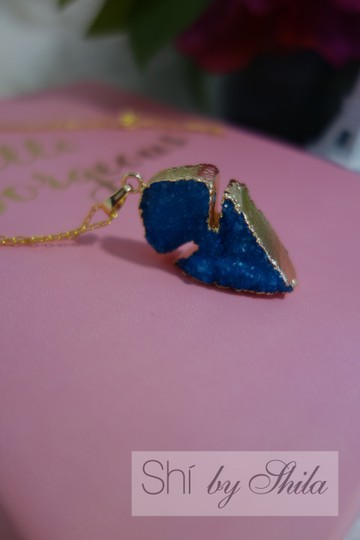 "Other ""Odelia"" Druzy Natural Crystal Necklace"