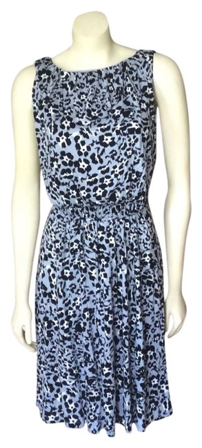 Ann Taylor LOFT short dress Black/Blue/White on Tradesy