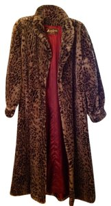 American Signature Vintage Faux Fur Long Fur Coat